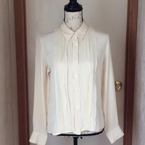 Tops - Jones New York Cream top silkseda